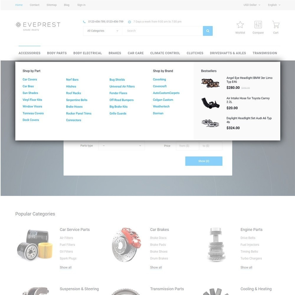 theme - Auto & Moto - Eveprest - Spare Parts - 5