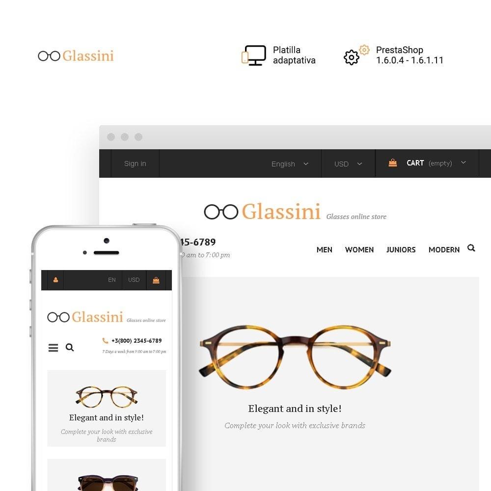 theme - Moda y Calzado - Glassini - para Sitio de Gafas - 2