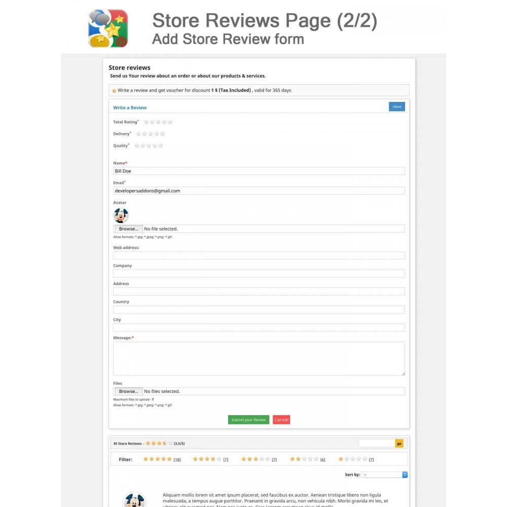 module - SEO - Product, Shop Reviews, Reminder, Profile, Rich Snippets - 13