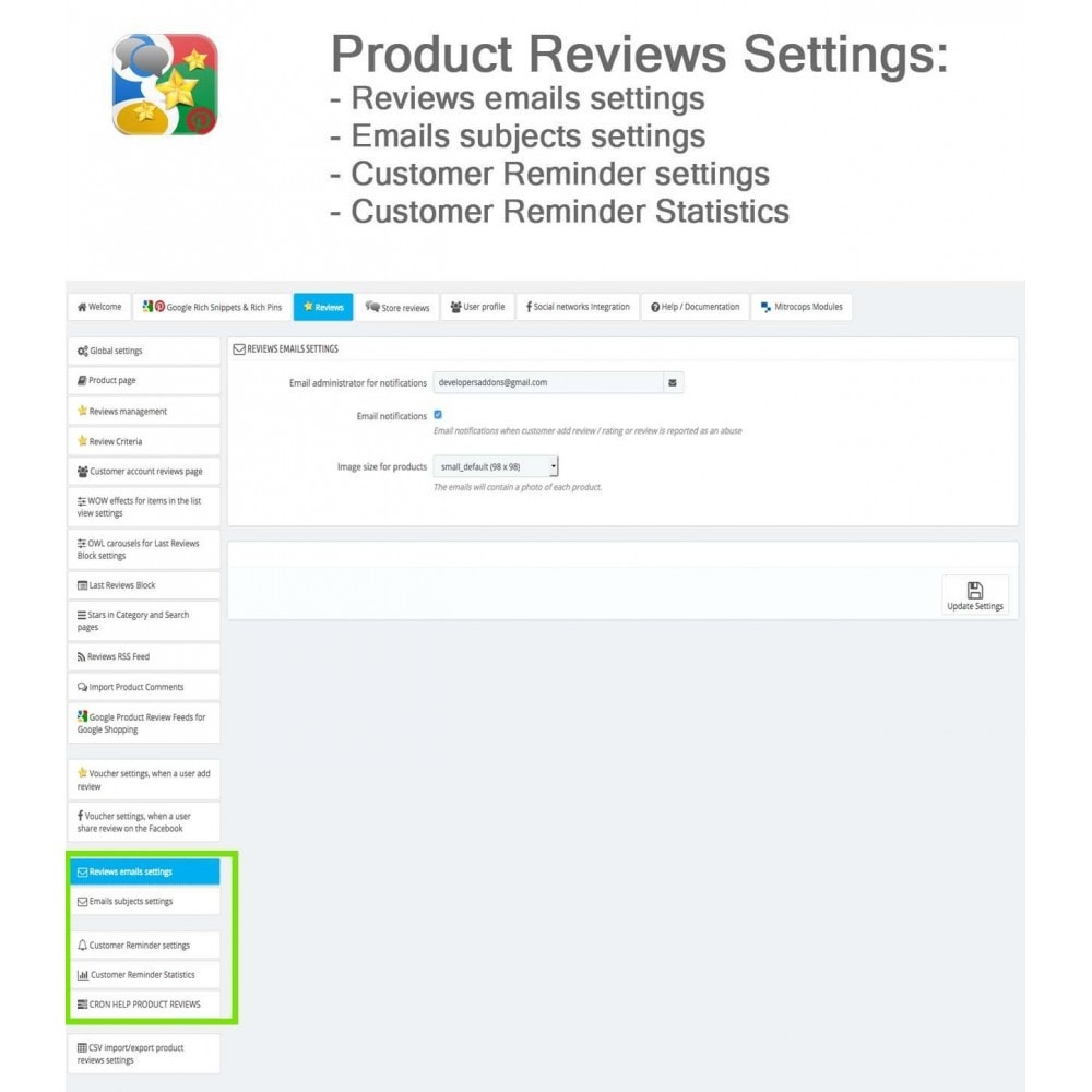 module - SEO - Product, Shop Reviews, Reminder, Profile, Rich Snippets - 38