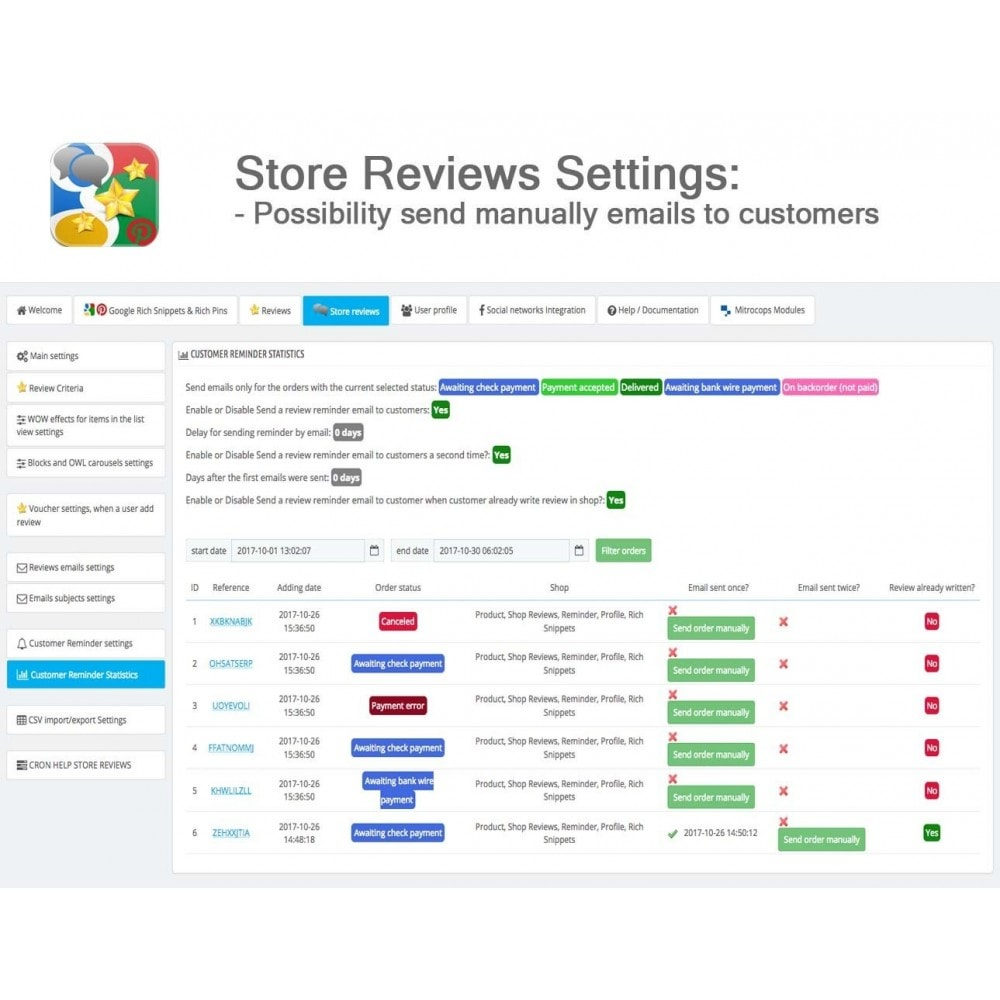 module - SEO - Product, Shop Reviews, Reminder, Profile, Rich Snippets - 45
