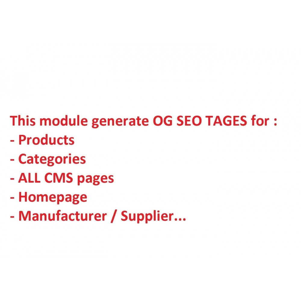 module - SEO (Indicizzazione naturale) - SEO for Social Networks - Open Graph - 2