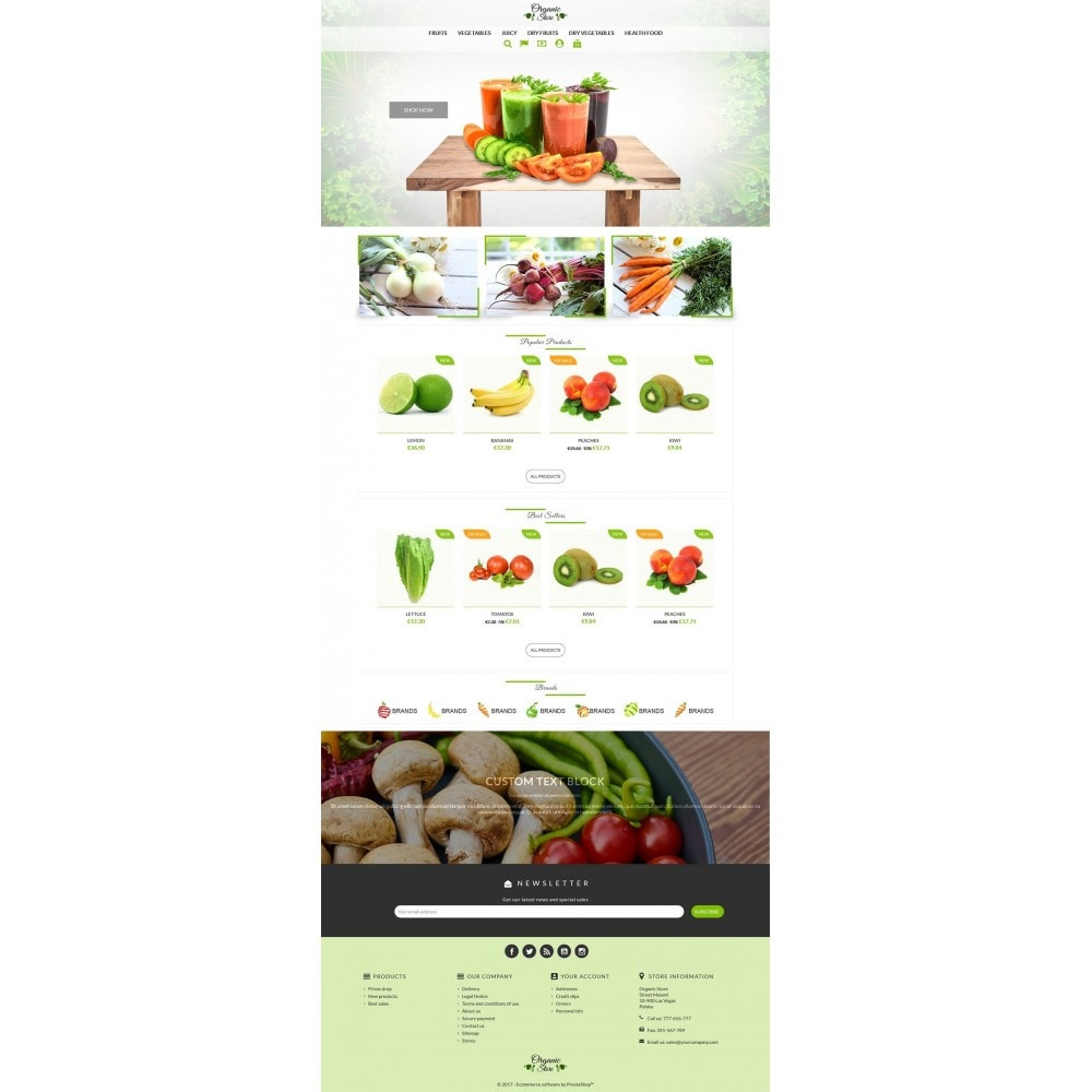 theme - Alimentation & Restauration - Organic Store - 2