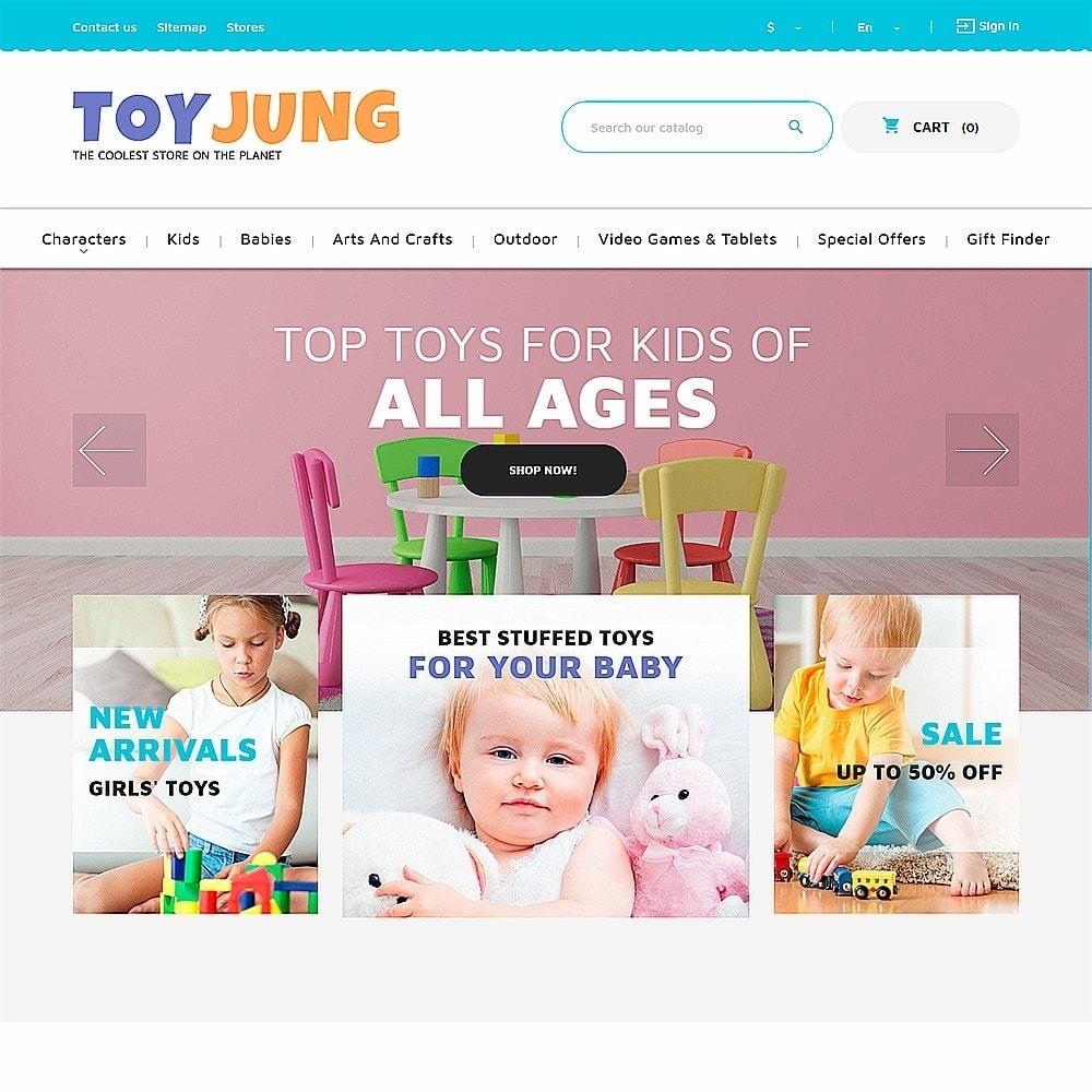 theme - Niños y Juguetes - ToyJung - para Sitio de Tienda de Juguetes - 2