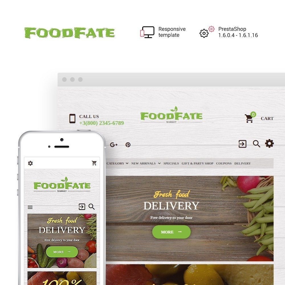 theme - Alimentos & Restaurantes - FoodFate - Supermarket - 1