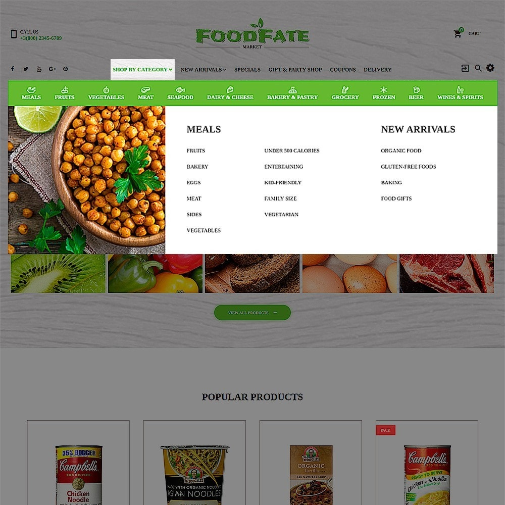 theme - Alimentos & Restaurantes - FoodFate - Supermarket - 4