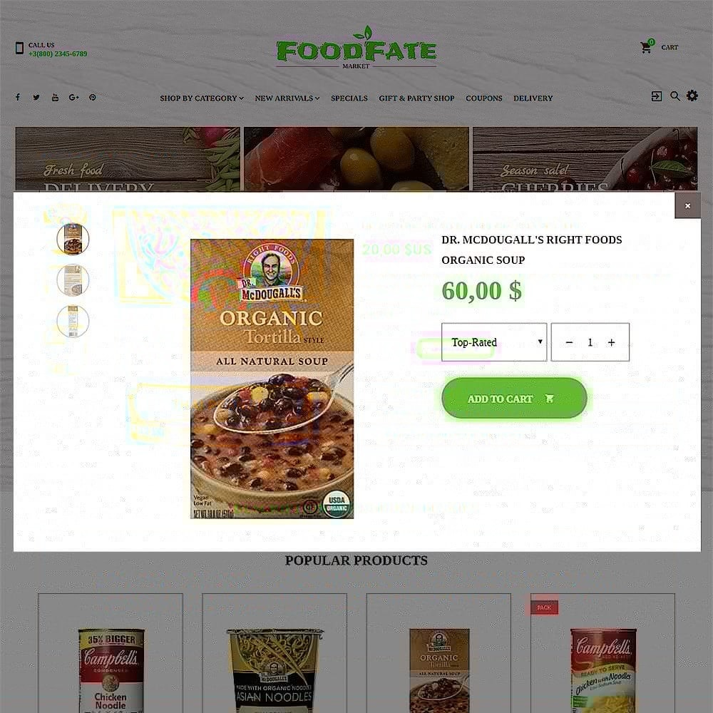 theme - Alimentation & Restauration - FoodFate - Supermarché - 5