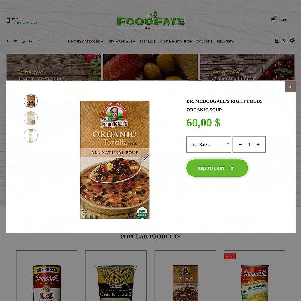 theme - Cibo & Ristorazione - FoodFate - per Un Sito di Negozio di Alimentari - 5