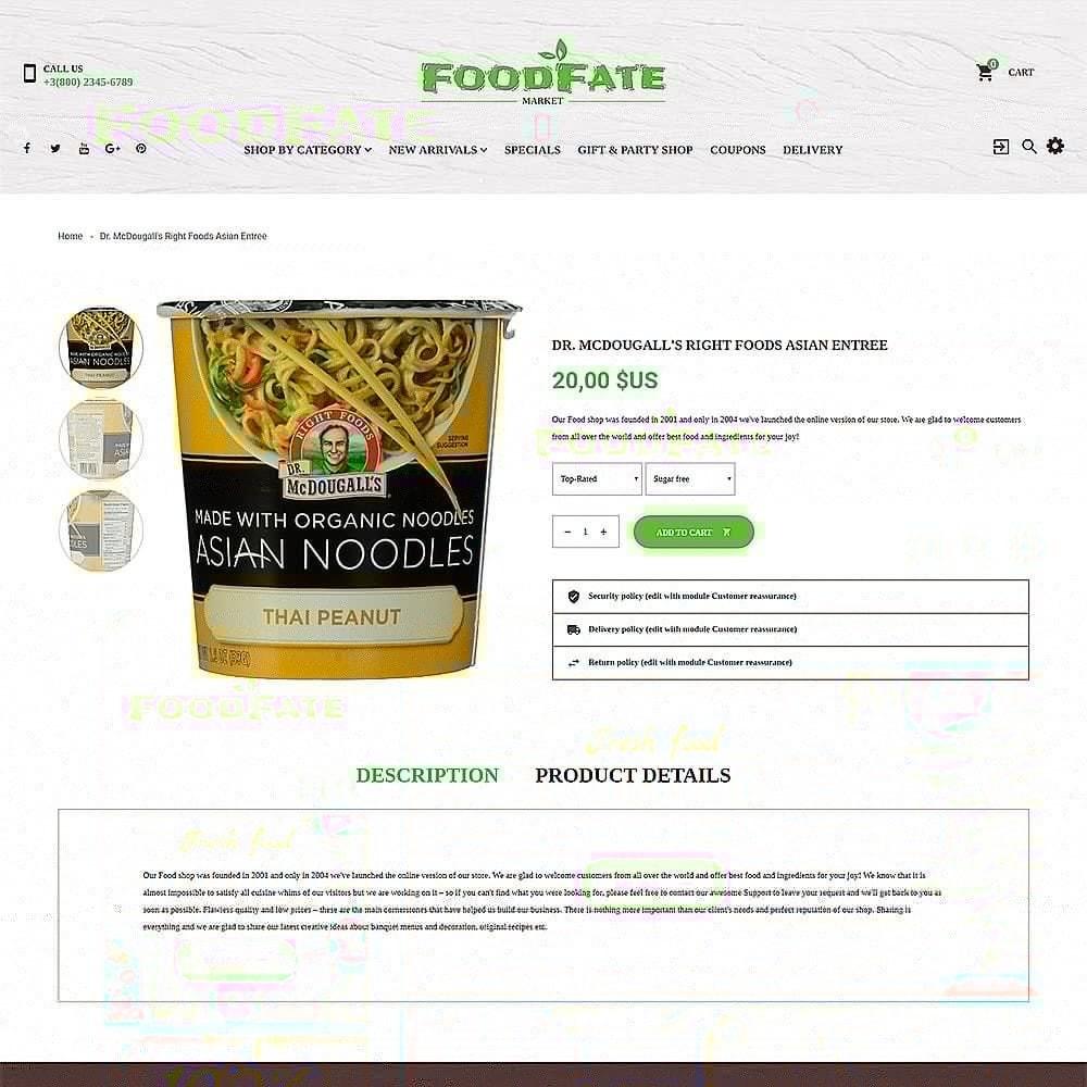 FoodFate - шаблон магазинa еды