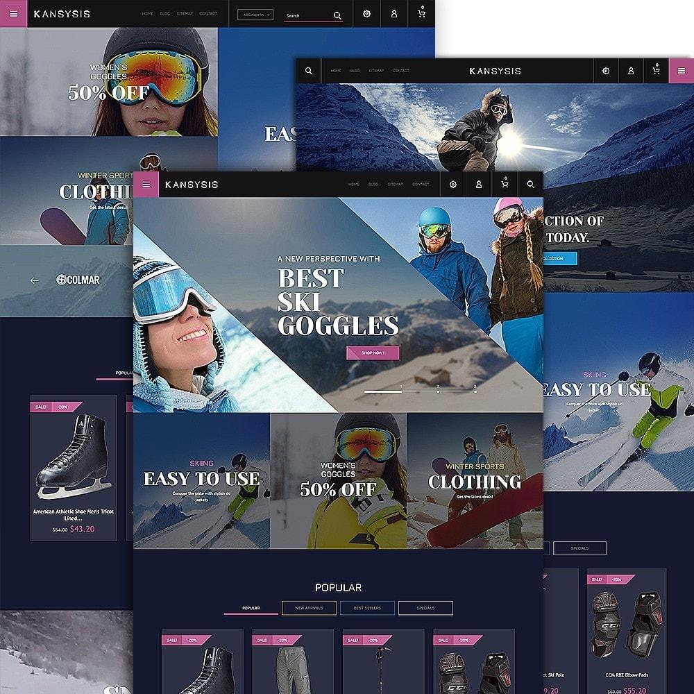 Kansysis - шаблон магазина спортивной одежды