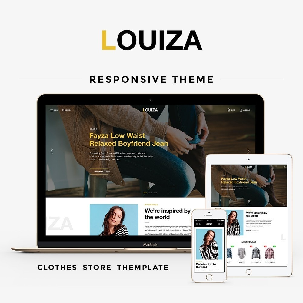 theme - Мода и обувь - Louiza Fashion Store - 1