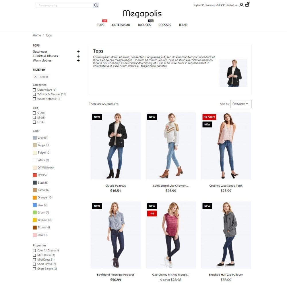 theme - Mode & Schuhe - Megapolis Fashion Store - 5