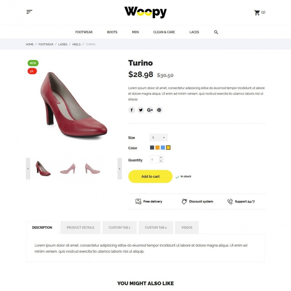 theme - Fashion & Shoes - Woopy Shop - 6