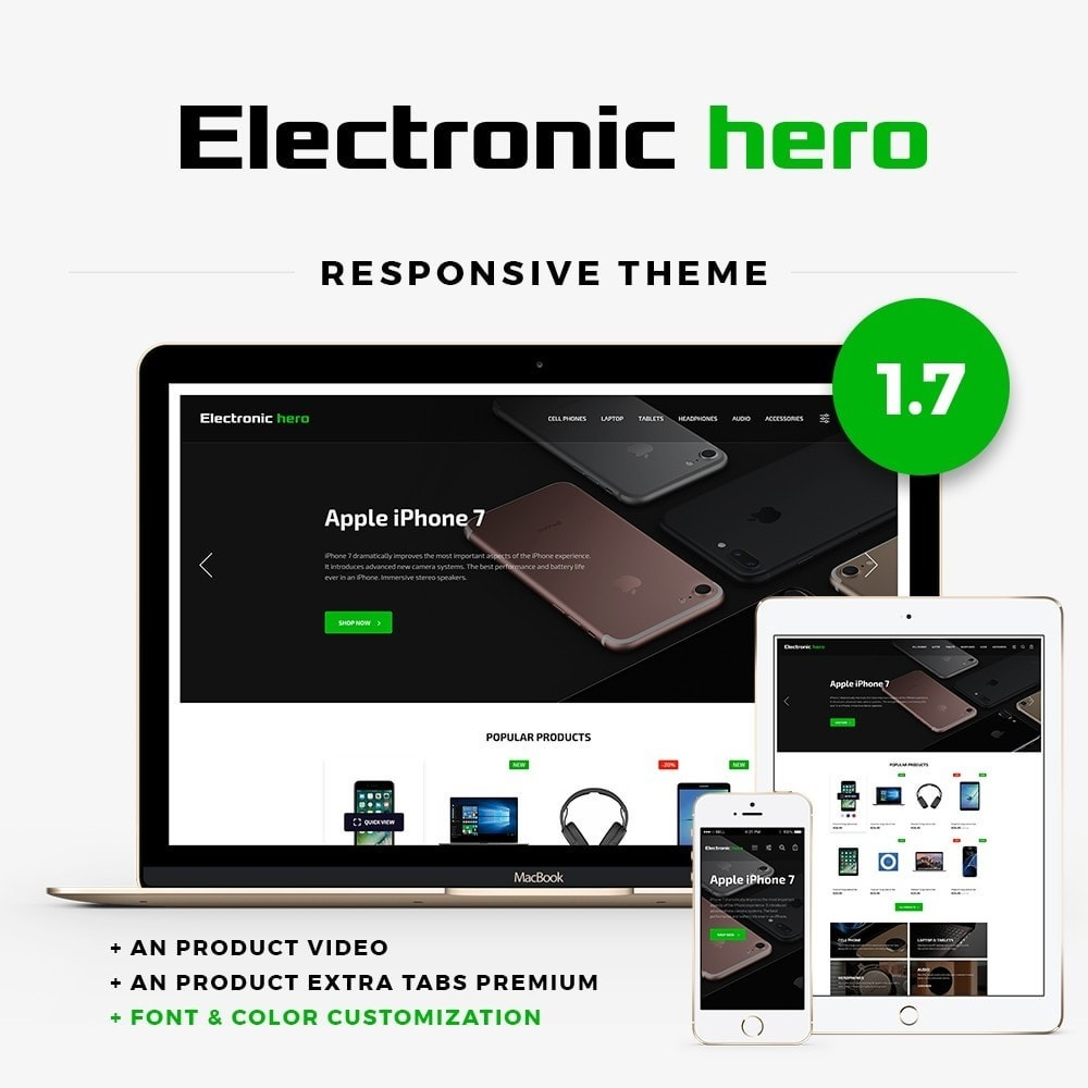 Electronic Hero - High-tech Shop