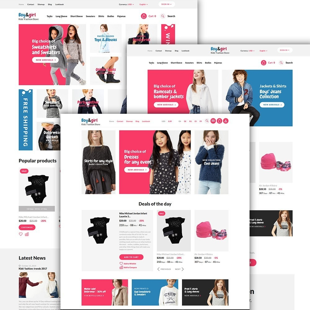 theme - Huis & Buitenleven - Boy&Girl - Kids Fashion Responsive - 2