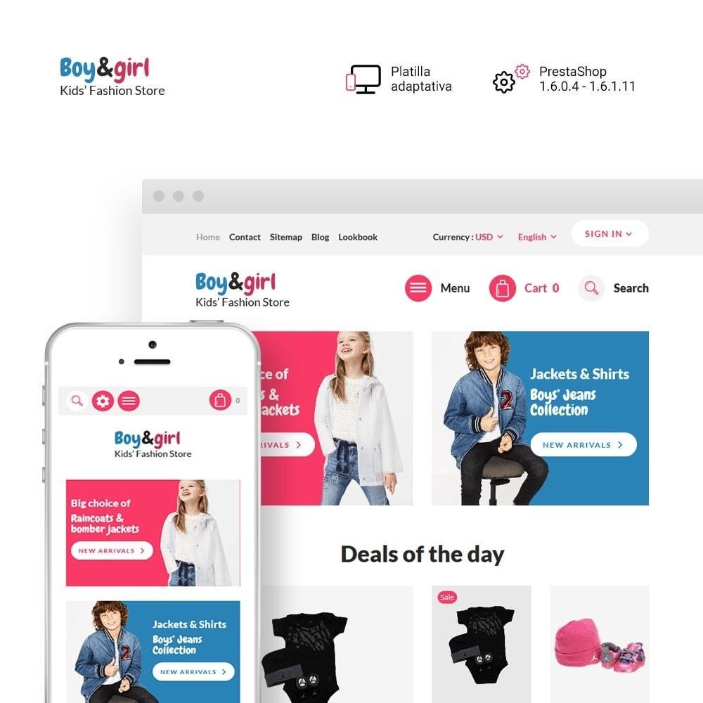 theme - Hogar y Jardín - Boy&Girl - para Sitio de Tienda de Productos para Bebés - 1