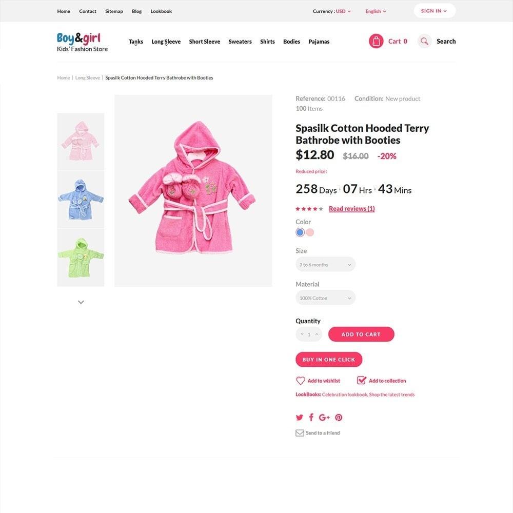 theme - Hogar y Jardín - Boy&Girl - para Sitio de Tienda de Productos para Bebés - 3