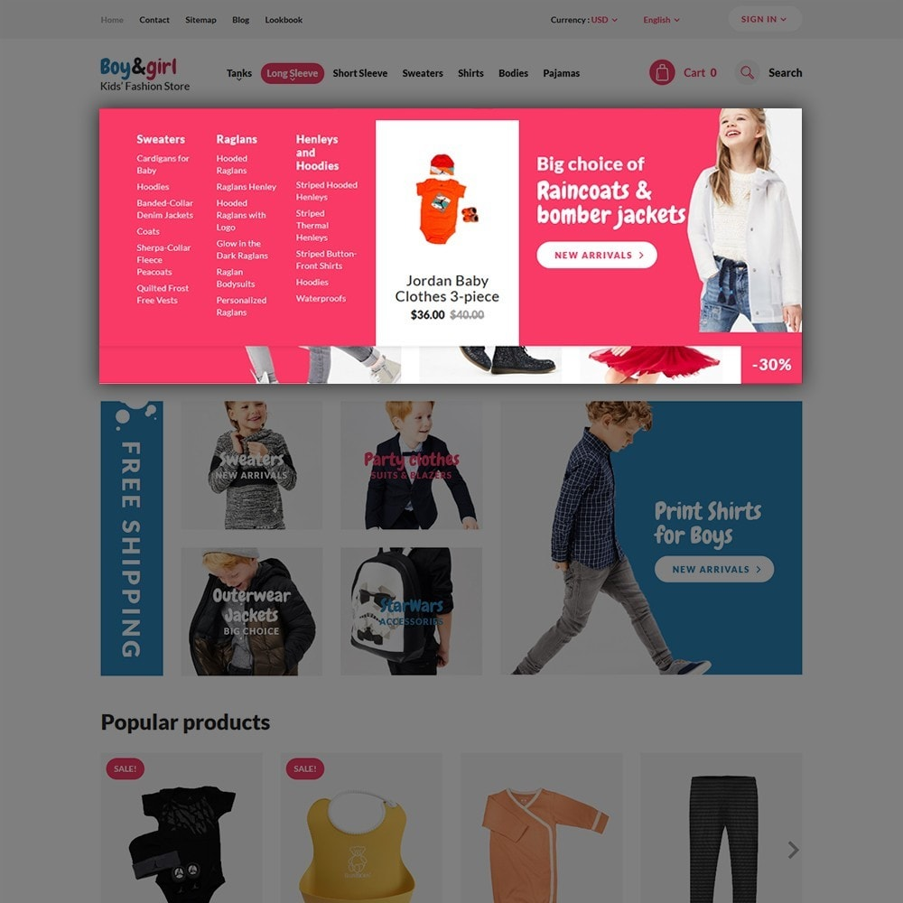 theme - Hogar y Jardín - Boy&Girl - para Sitio de Tienda de Productos para Bebés - 4