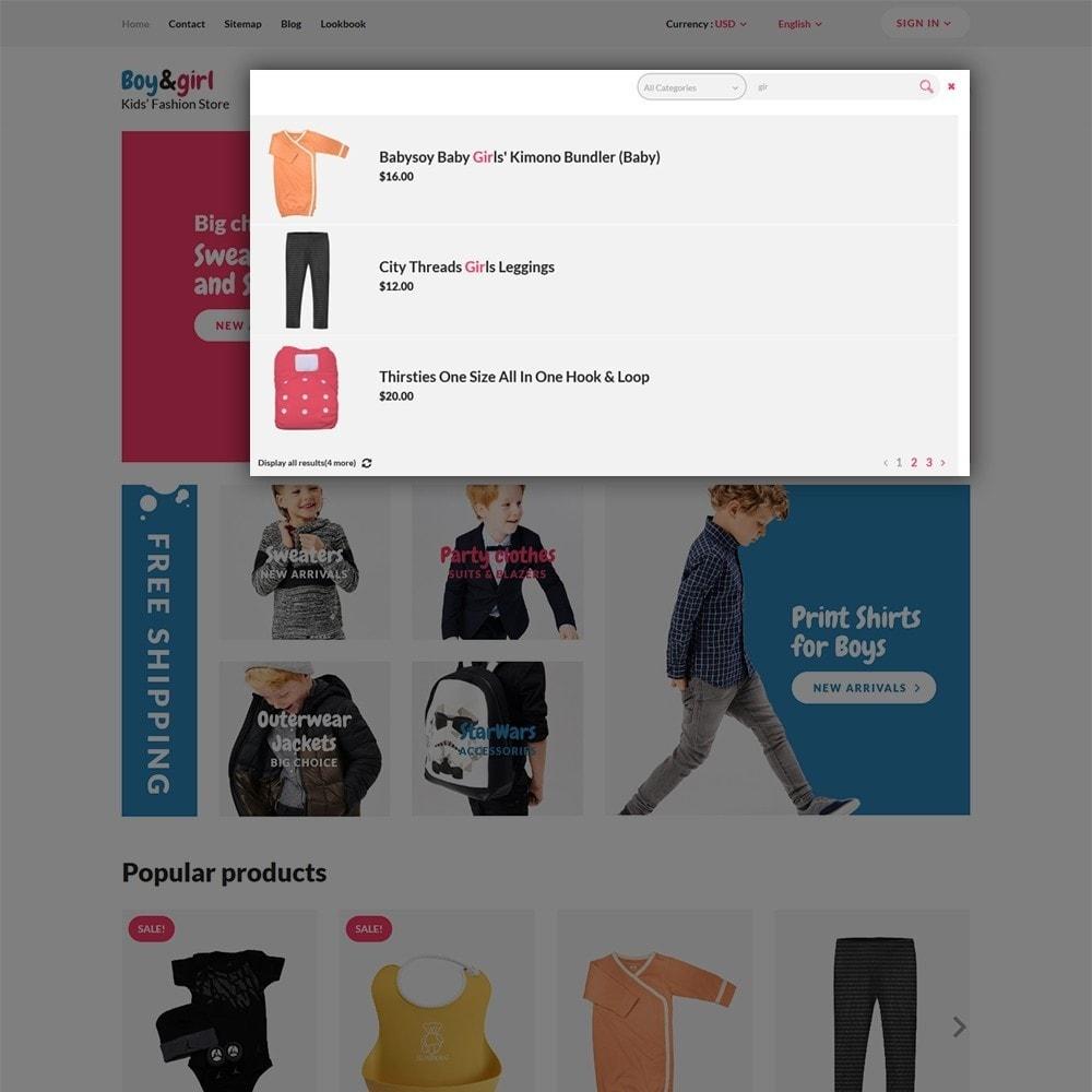theme - Hogar y Jardín - Boy&Girl - para Sitio de Tienda de Productos para Bebés - 6