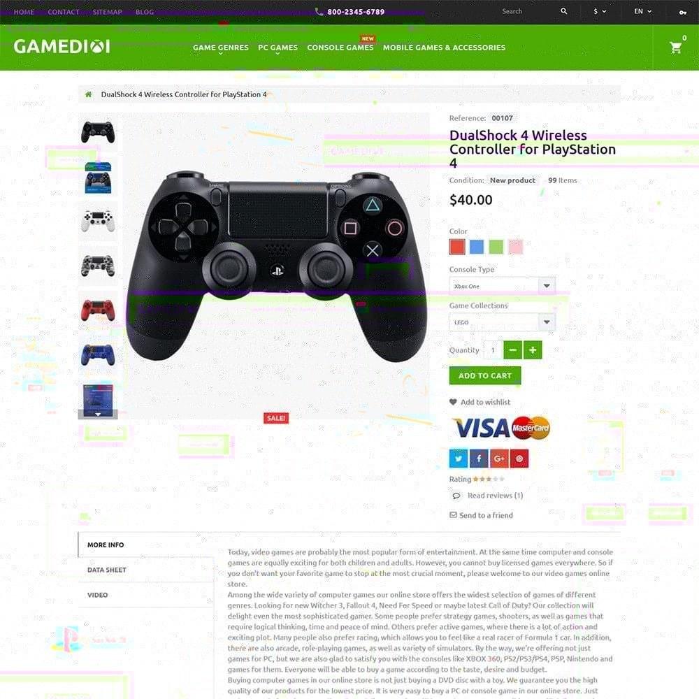 Gamedixi - шаблон компьютерных игор
