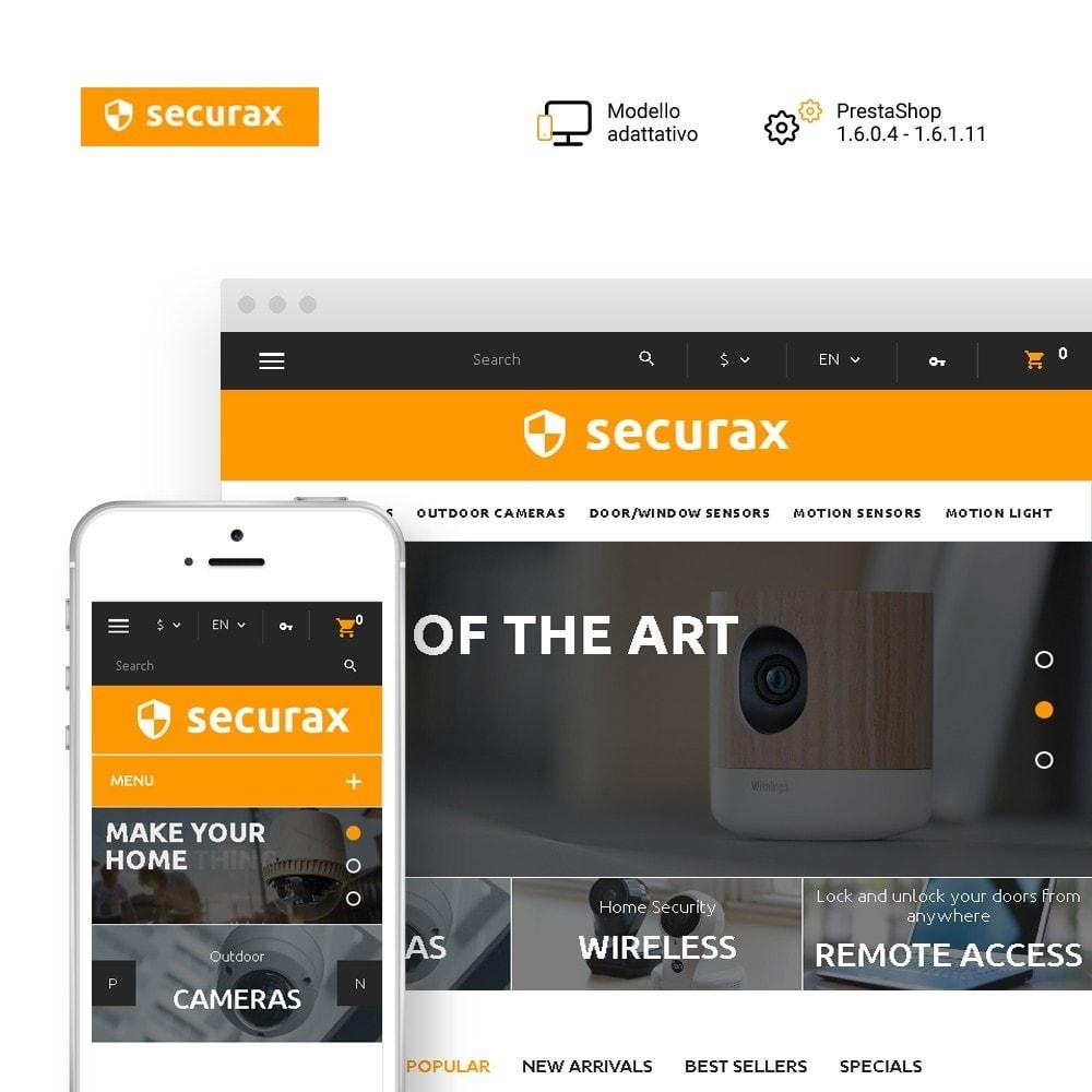 Securax - шаблон на тему систем безопасности