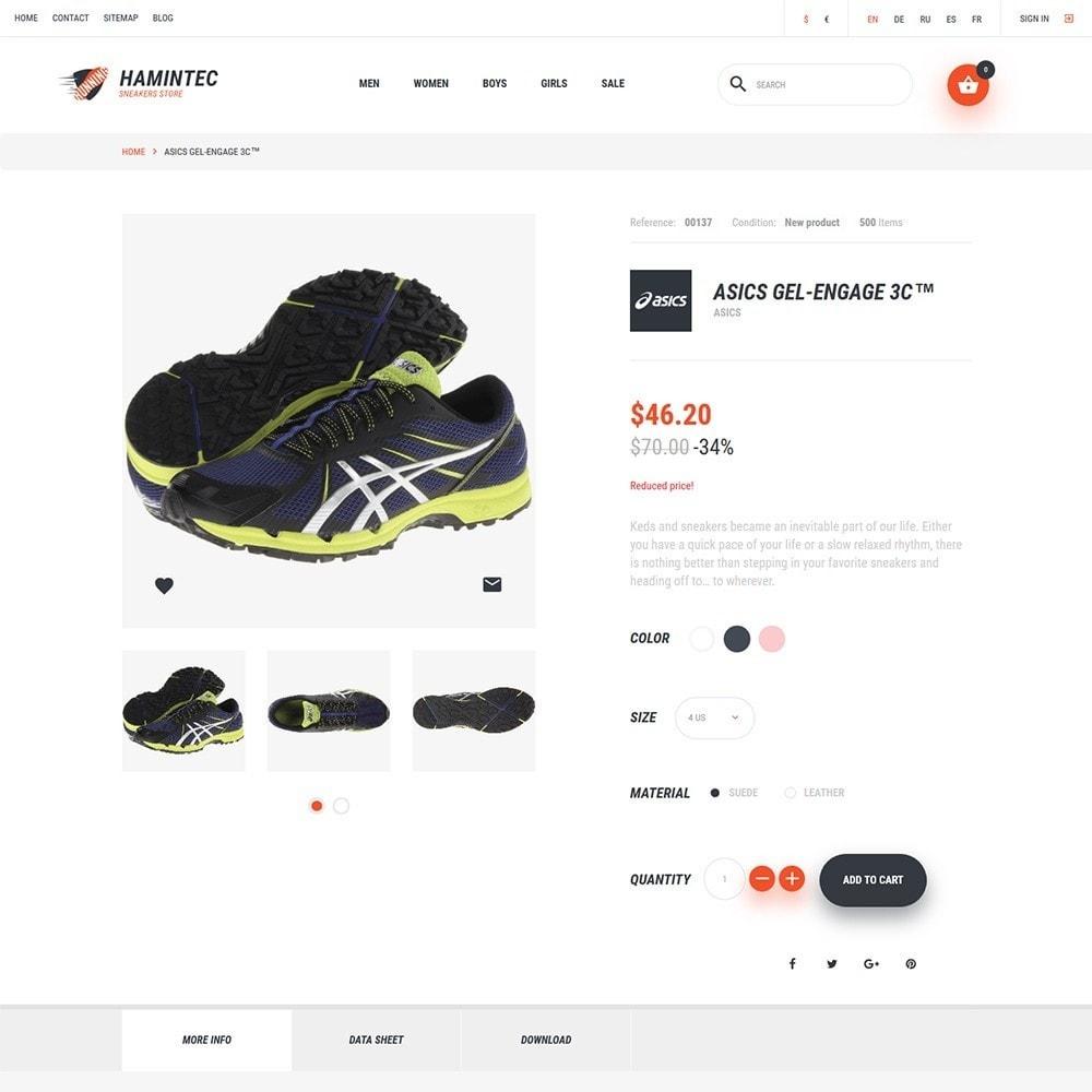 theme - Мода и обувь - Hamintec - шаблон на тему интернет-магазин кроссовок - 3