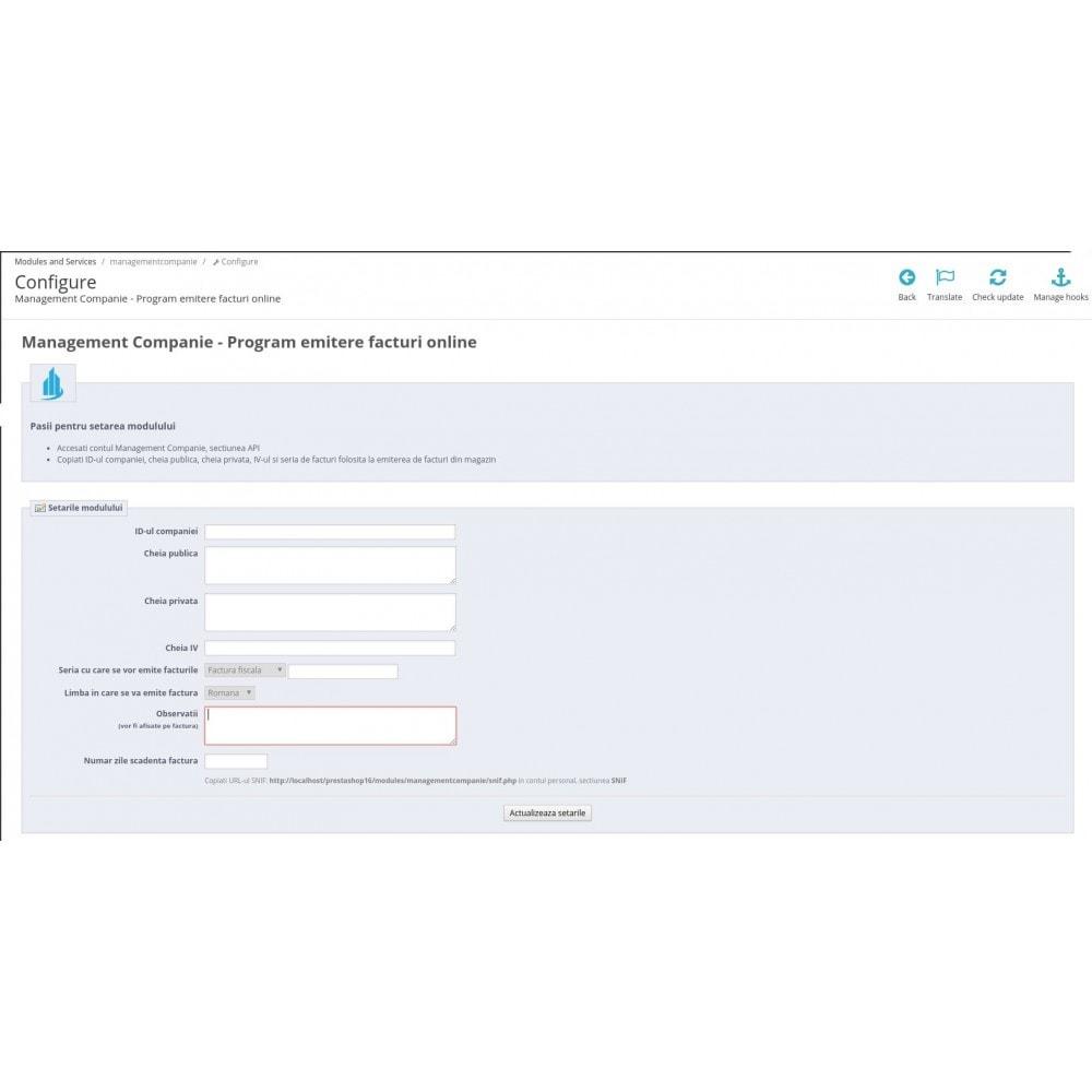 module - Бухгалтерии и выставления счетов - Management Companie - Online invoicing software - 1
