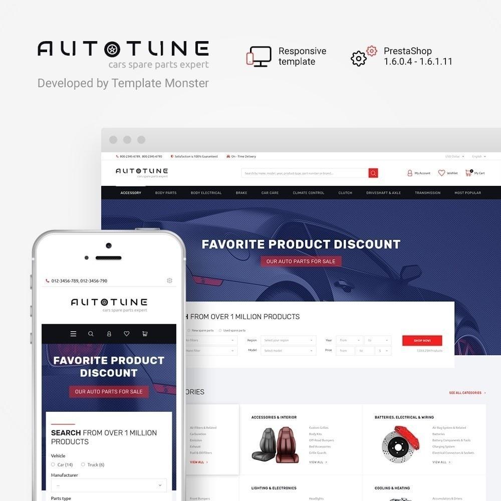 Autotune - шаблон на тему автозапчасти