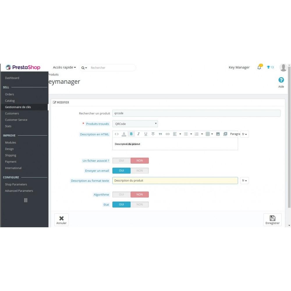 module - Sécurité & Accès - Key Manager (Gestion des produits à clés) - 3