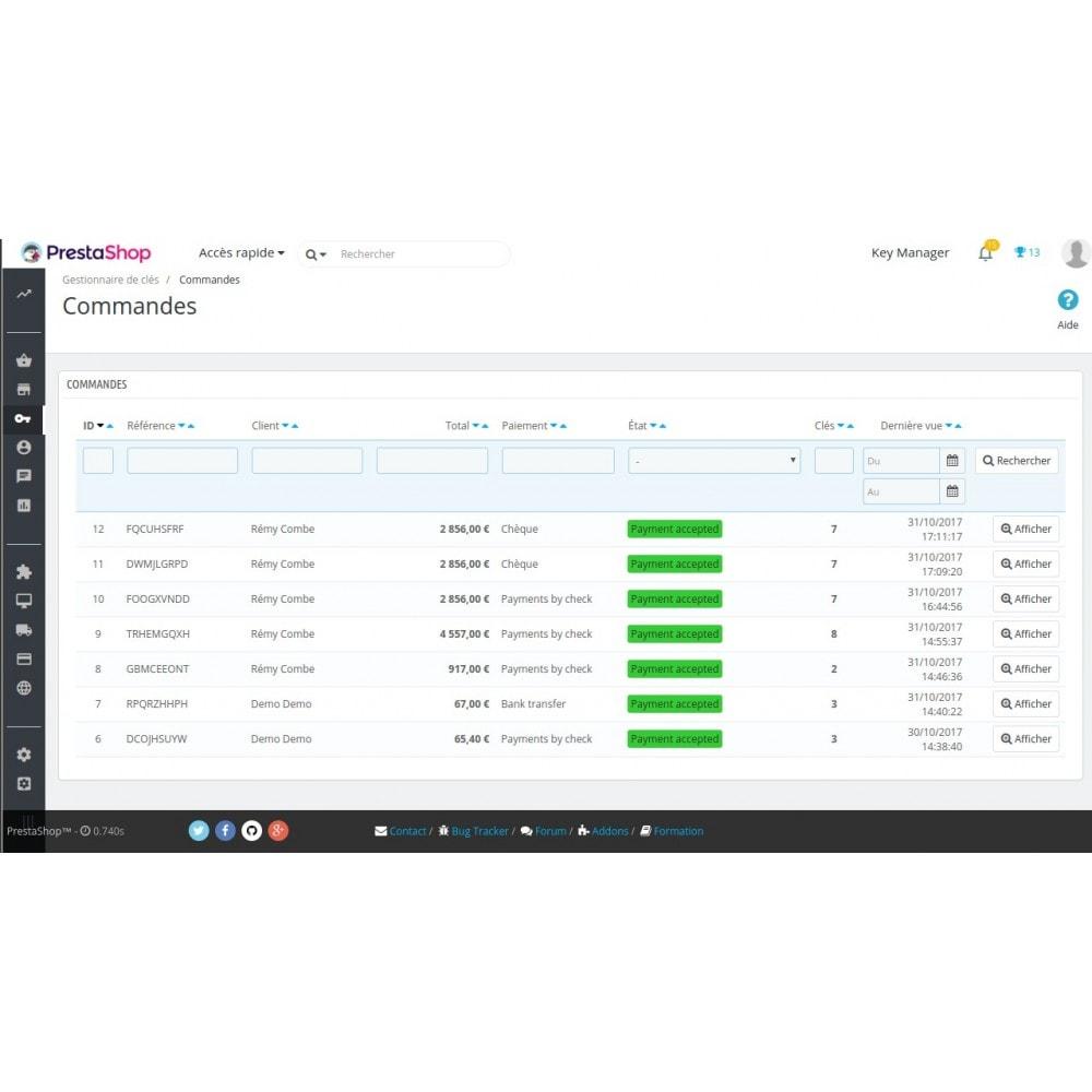 module - Sécurité & Accès - Key Manager (Gestion des produits à clés) - 6
