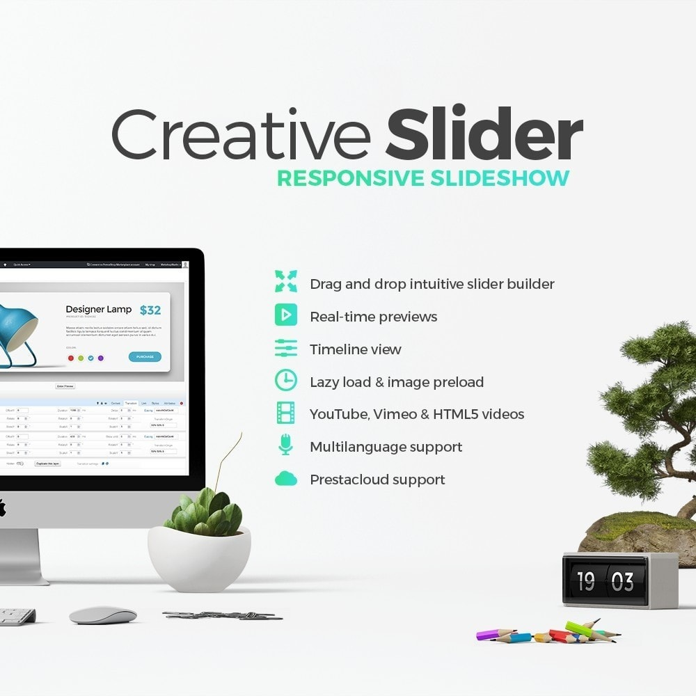 module - Sliders & Galeries - Creative Slider - Responsive Slideshow - 4