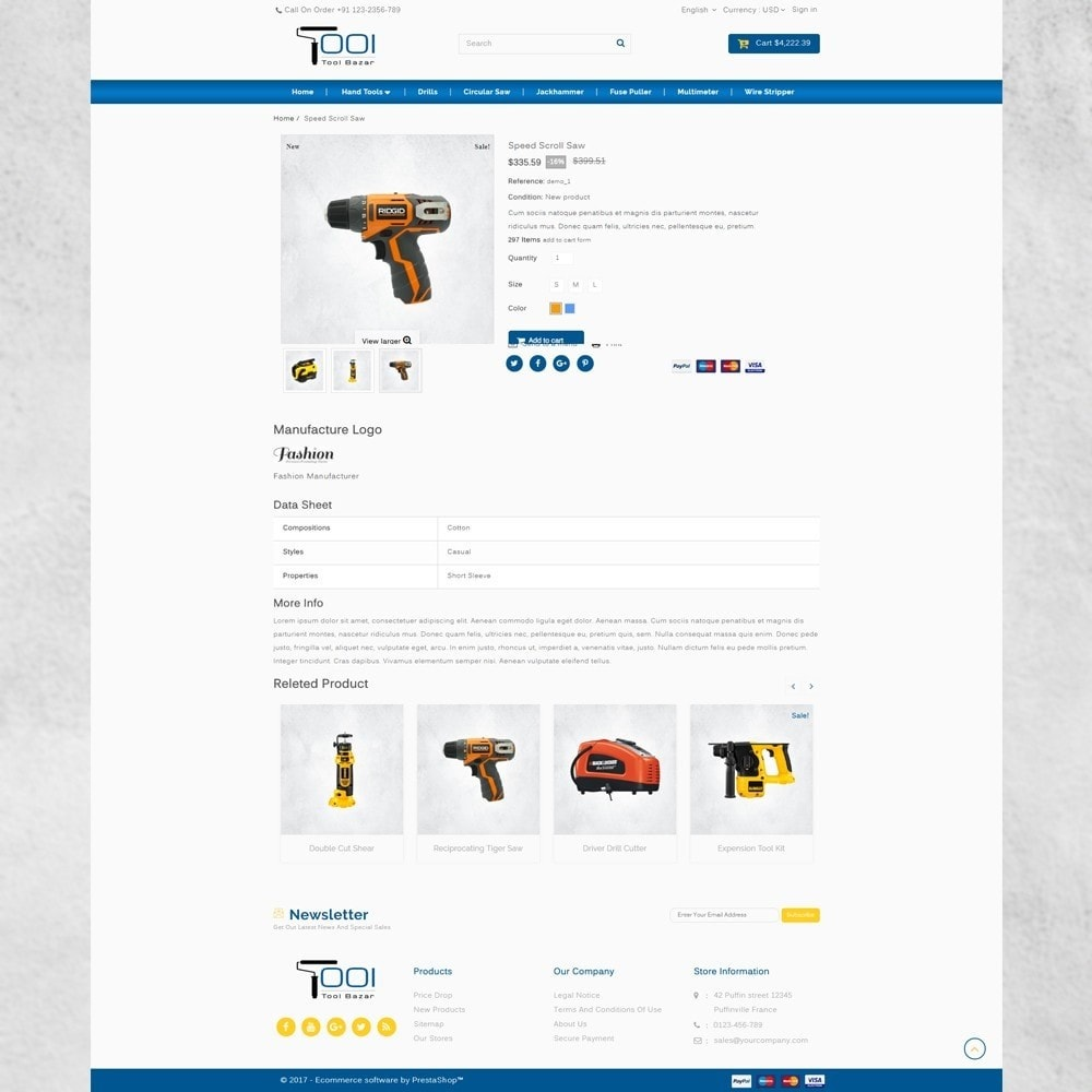 theme - Carros & Motos - Tools Shop - 5