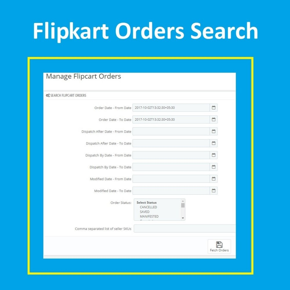 module - Platforma handlowa (marketplace) - Flipkart Marketplace Integration Solution - 4