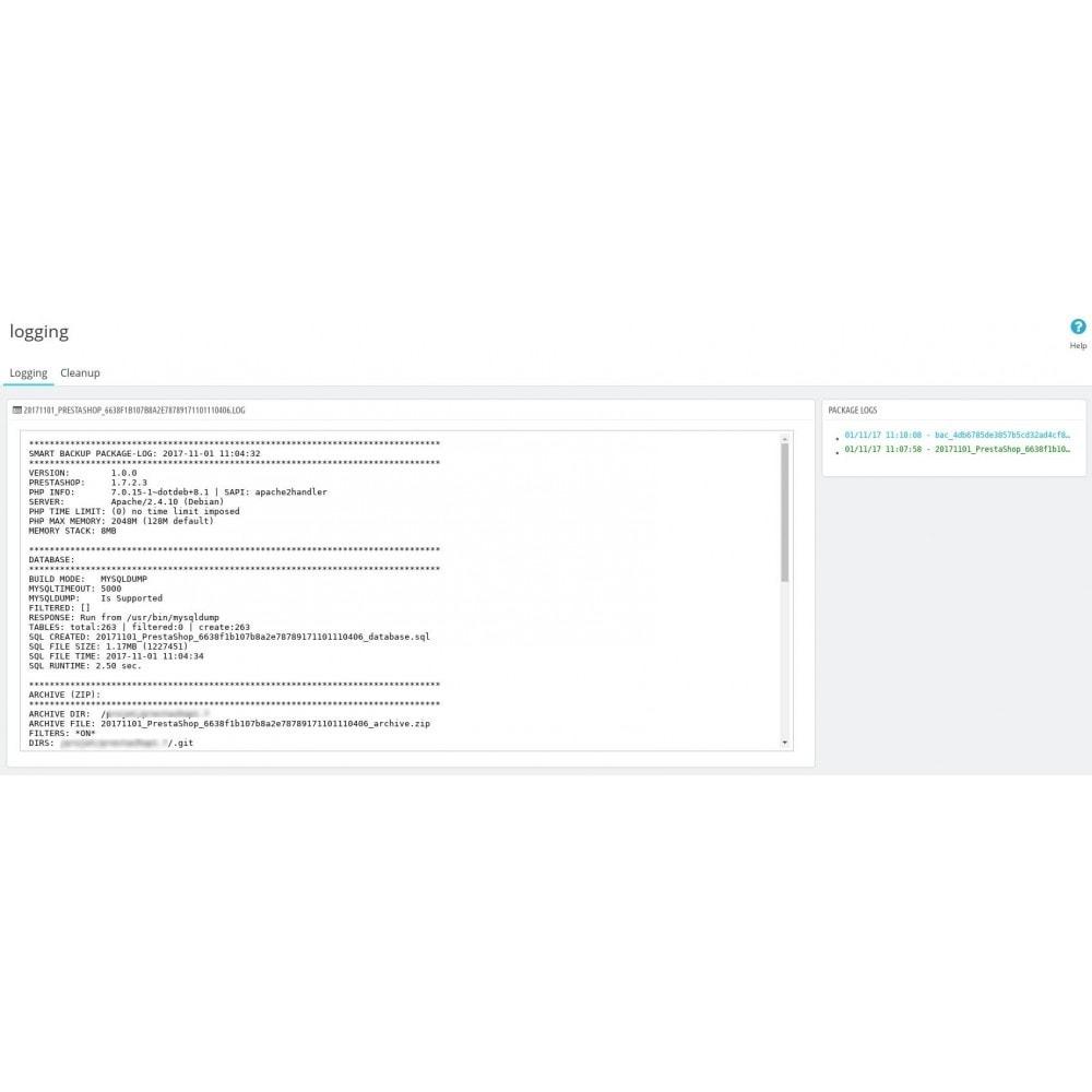 module - Data migration & Backup - Smart Backup - 11