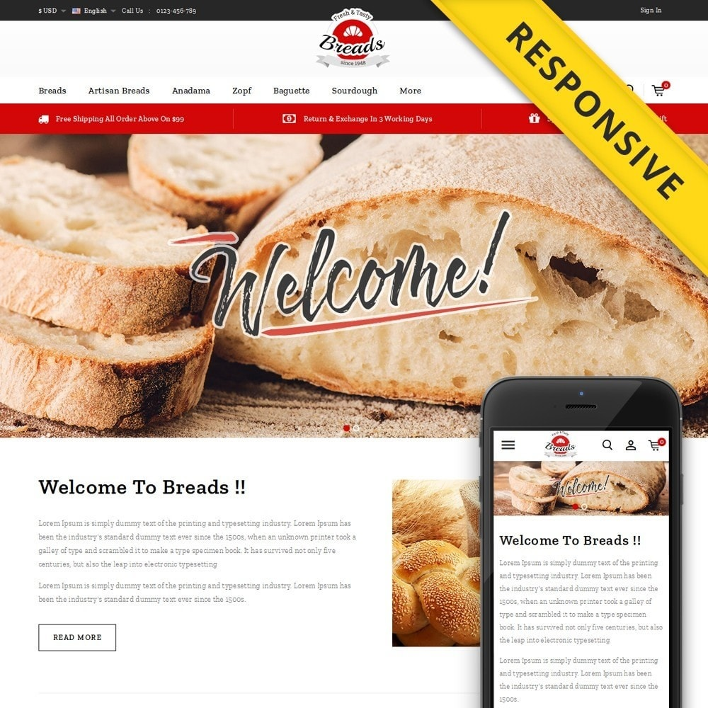 Fresh Bakery store