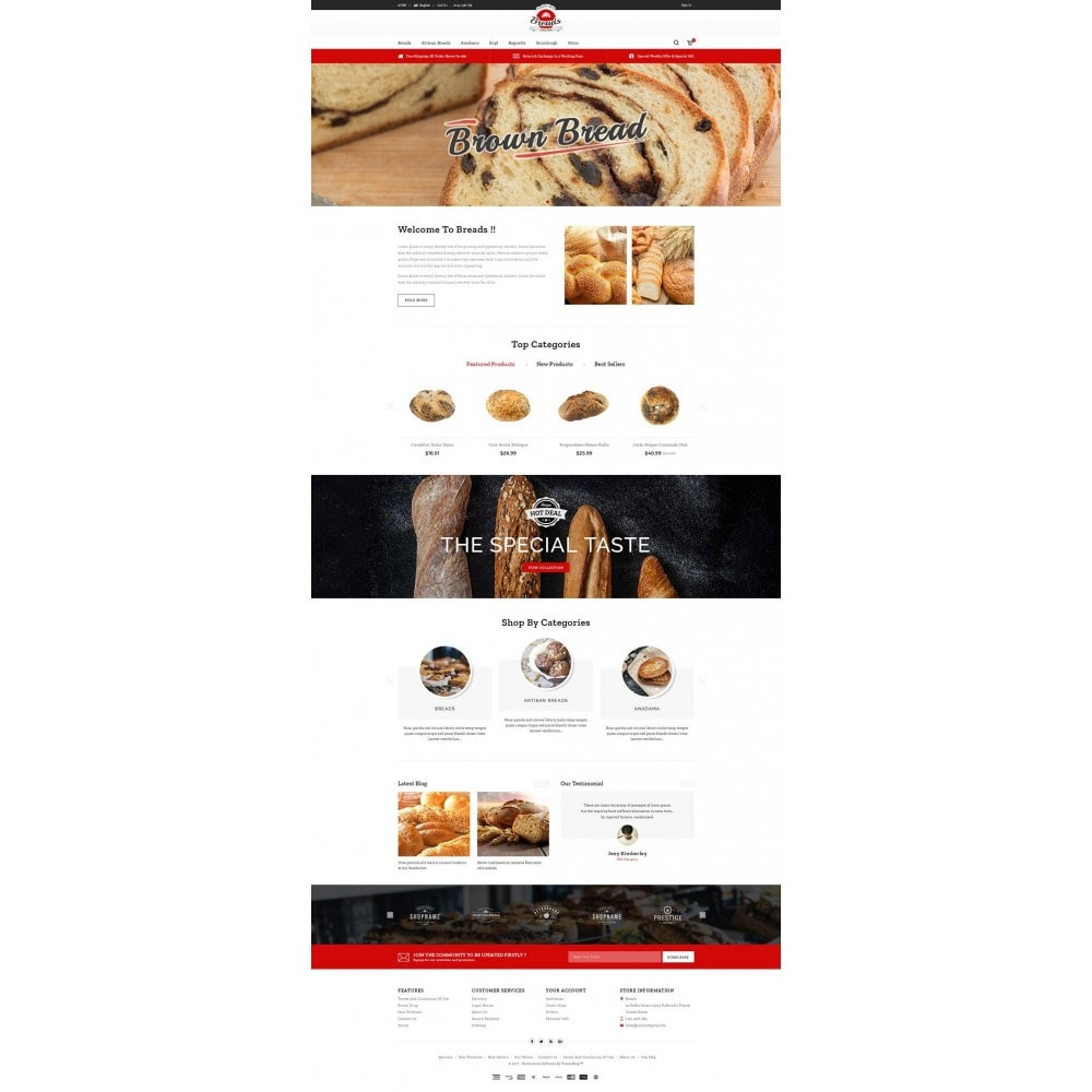 theme - Alimentation & Restauration - Fresh Bakery store - 2