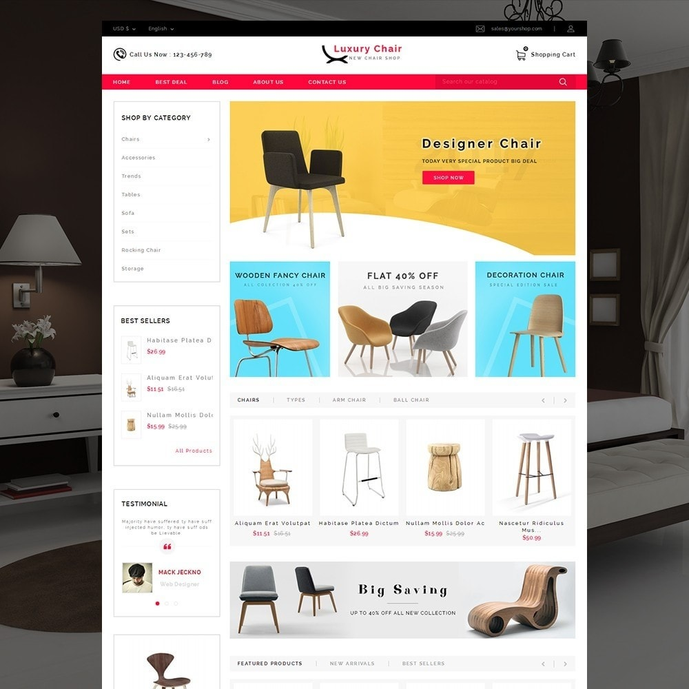 Luxury Chair Online Store Template