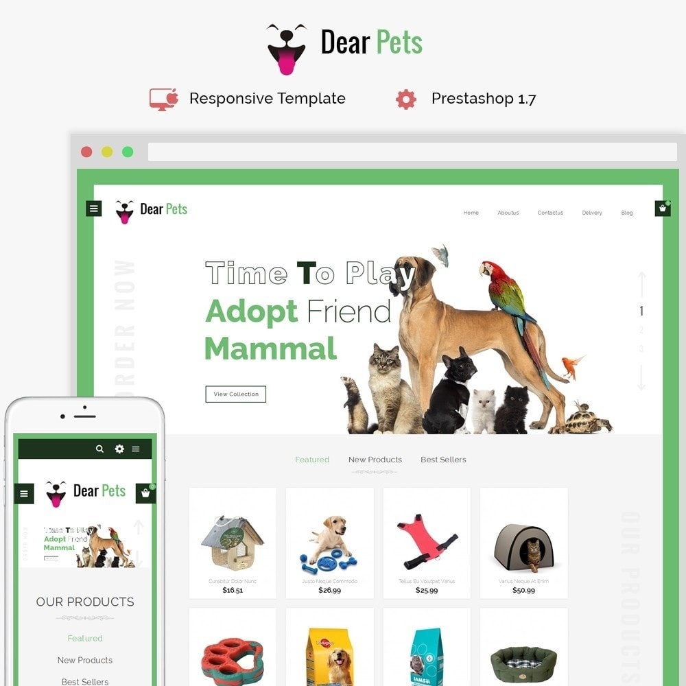 theme - Animaux - Dearpets Pet Store - 1