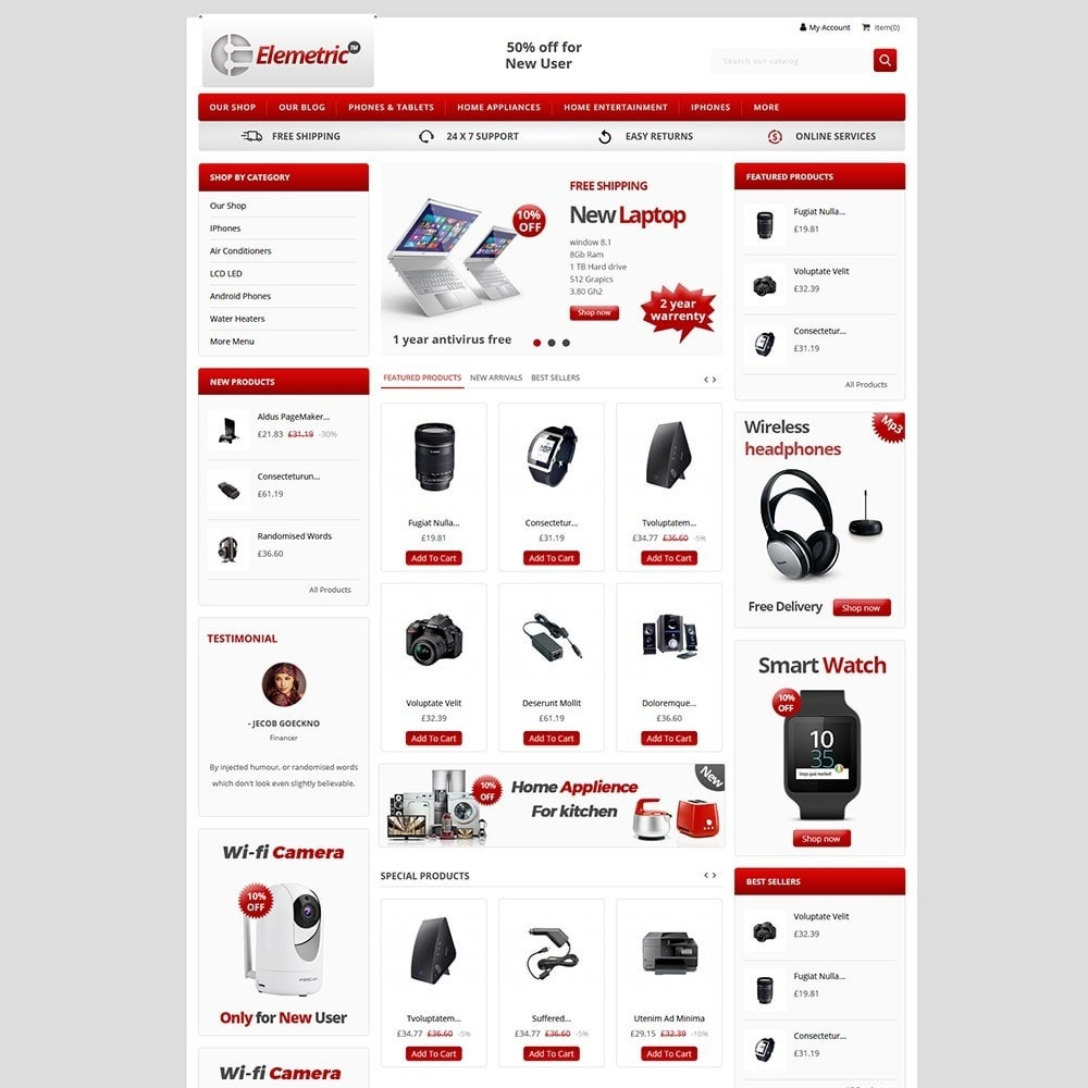 theme - Eletrônicos & High Tech - Elemetric Electronic store - 2