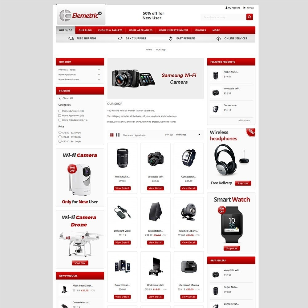 theme - Electronics & Computers - Elemetric Electronic store - 3