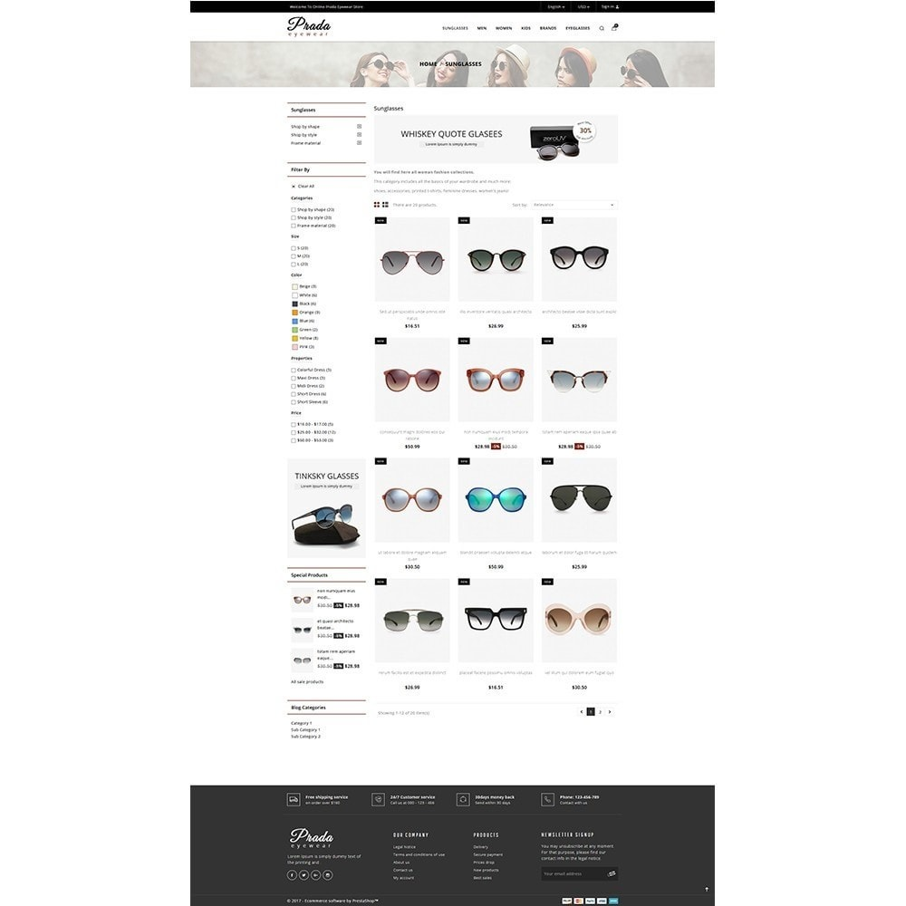 theme - Mode & Schoenen - Prada eyewear sunglasses store - 3