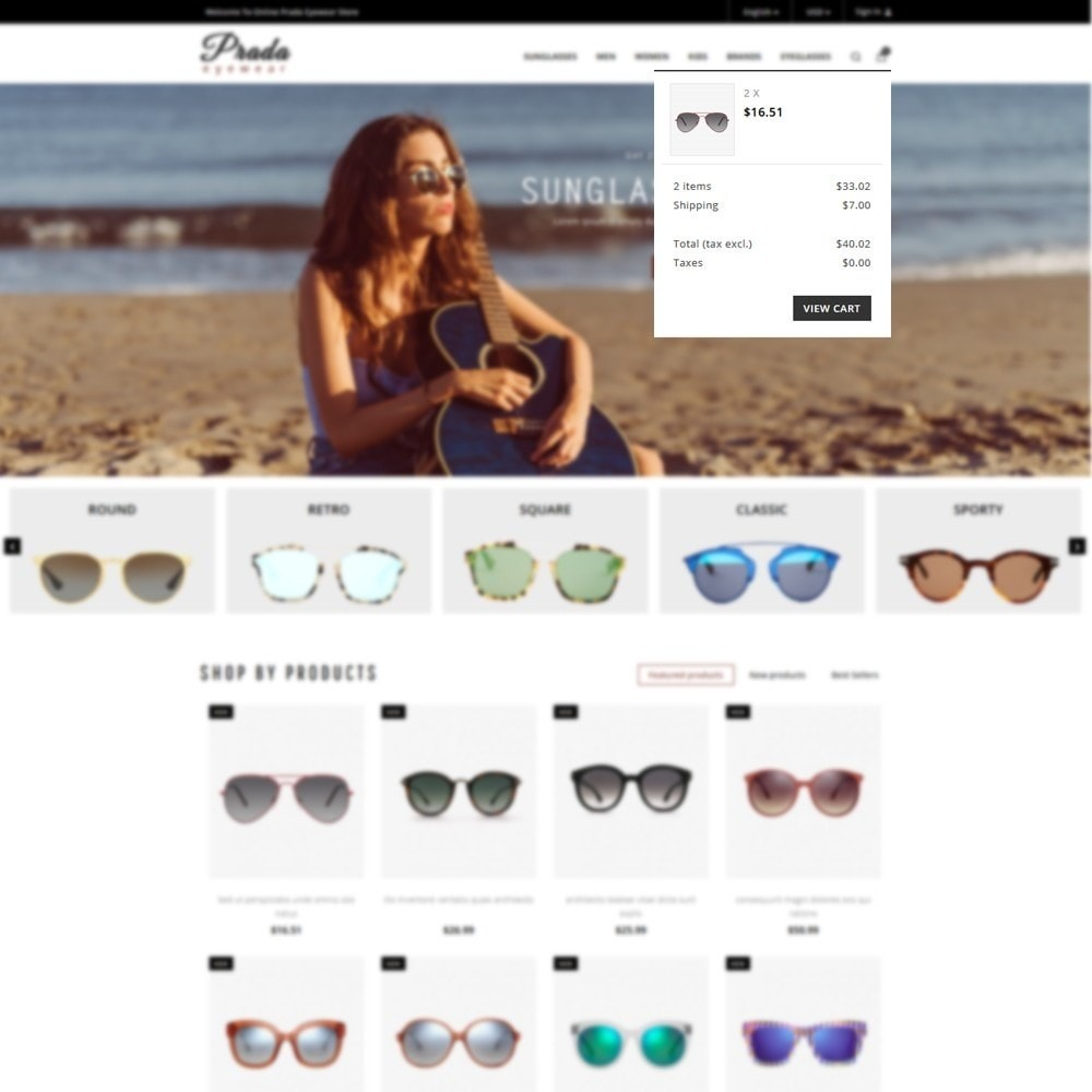 theme - Mode & Schoenen - Prada eyewear sunglasses store - 6