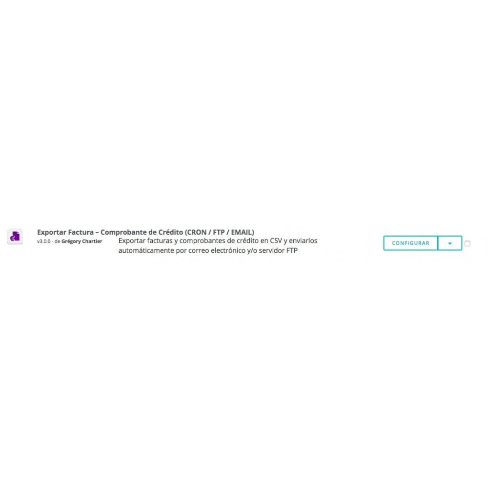 module - Importación y Exportación de datos - Exportar Factura–Comprobante de Crédito(CRON/FTP/EMAIL) - 6