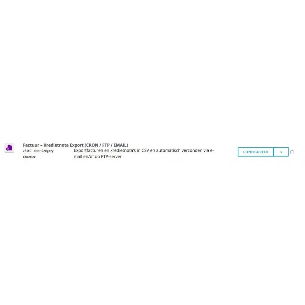 module - Importeren en Exporteren van data - Factuur – Kredietnota Export (CRON / FTP / EMAIL) - 6