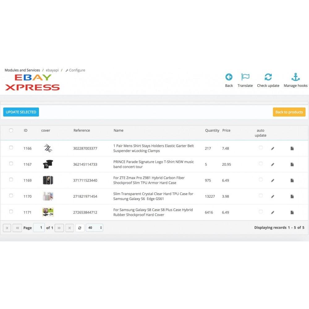 module - Importación y Exportación de datos - EbayXpress Importer - 4