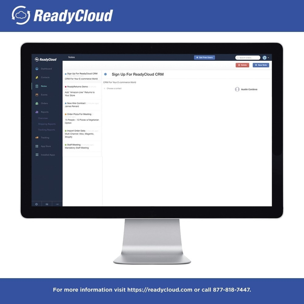 module - Third-party Data Integration (CRM, ERP...) - ReadyCloud E-Commerce CRM Software - 6