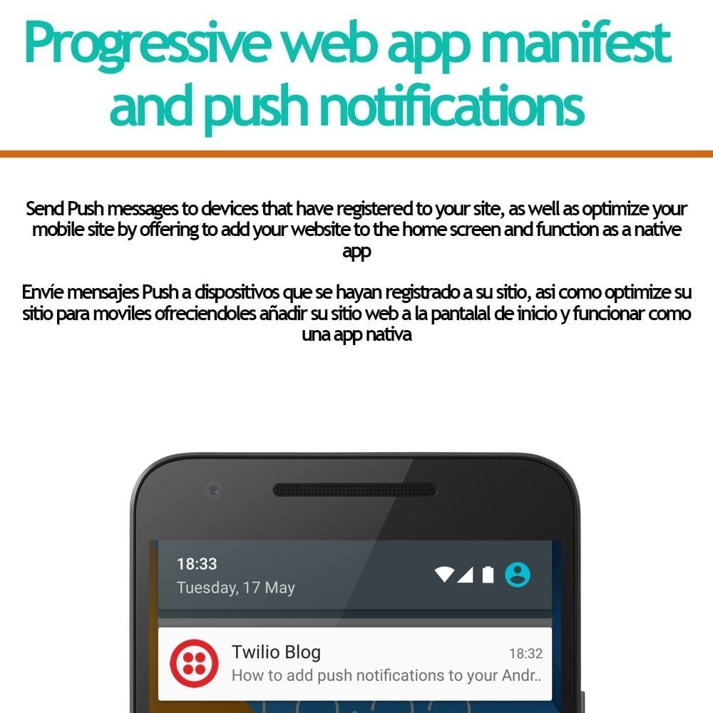 module - E-mails y Notificaciones - Progressive web app and push notifications - 1