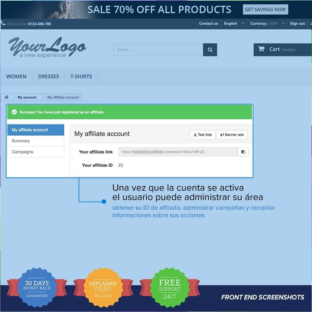 bundle - SEM SEA - Posicionamiento patrocinado & Afiliación - Marketing Pack - Affiliate, Newsletter,PushNotification - 5