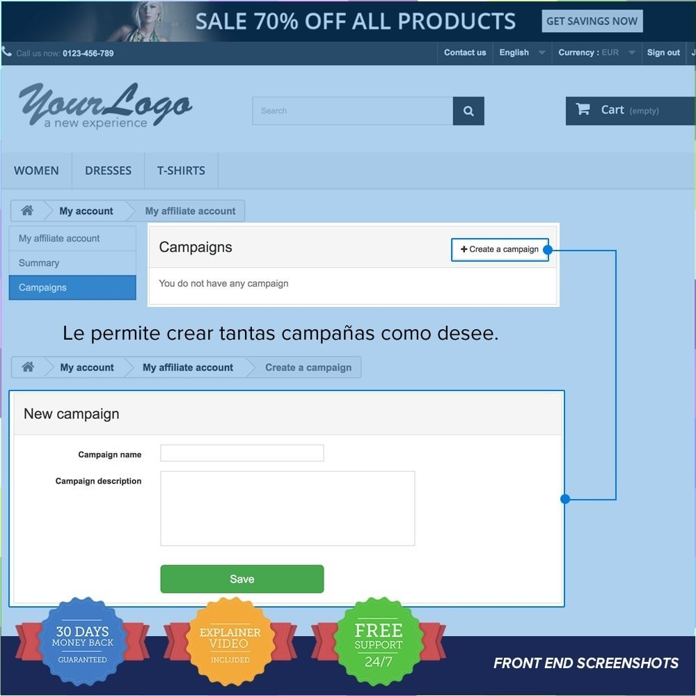 bundle - SEM SEA - Posicionamiento patrocinado & Afiliación - Marketing Pack - Affiliate, Newsletter,PushNotification - 7