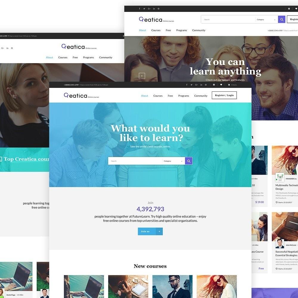 Creatica - шаблон сайтa образования